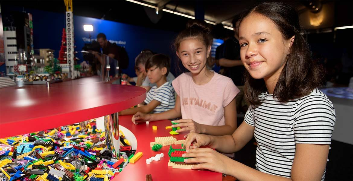 Interactive kids activities at the Brickman Cities Powdered by LEGO