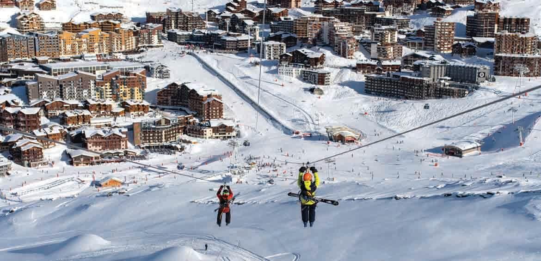 Ziplines, snow activities
