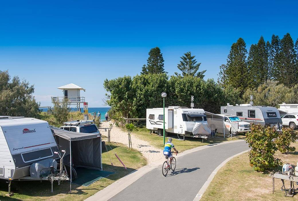 New sites at Coolum Beach Holiday Park
