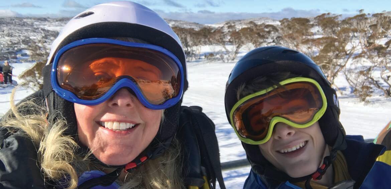 Tracey Spicer, Perisher tweens, ski & snowboard, snow