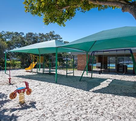 Playground at Dicky Beach Family Holiday Park