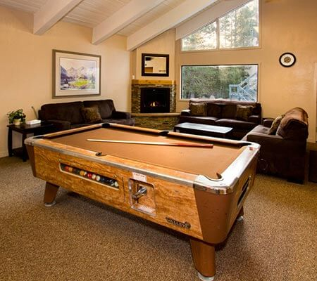 Pool table room at St Anton Condominiums