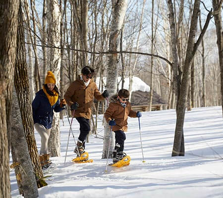 Snow shoeing at Club Med Tomamu