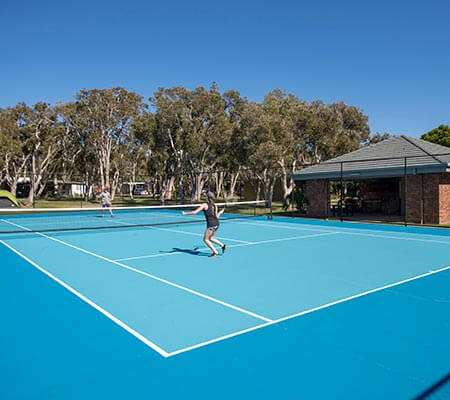 Tennis court at Dicky Beach Family Holiday Park