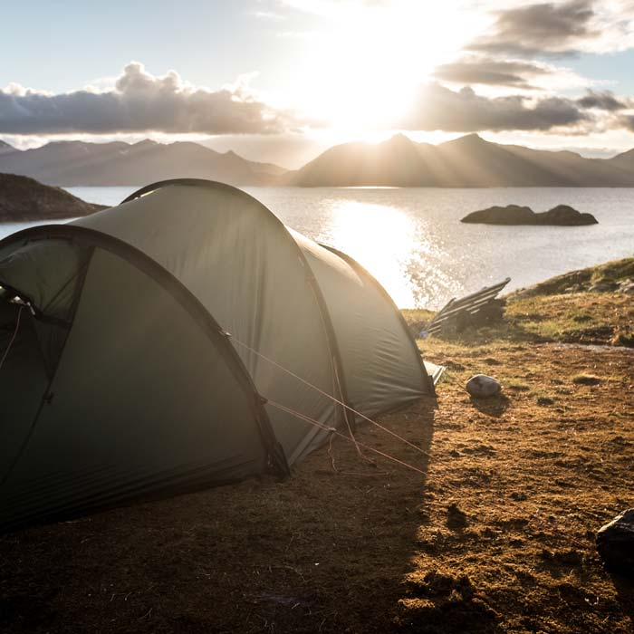 camping in Henningsvær, Norway