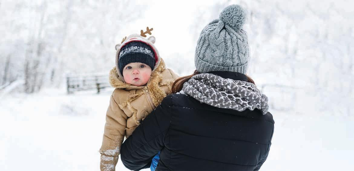 Baby, ski & snowboard with kids, taking babies to the snow