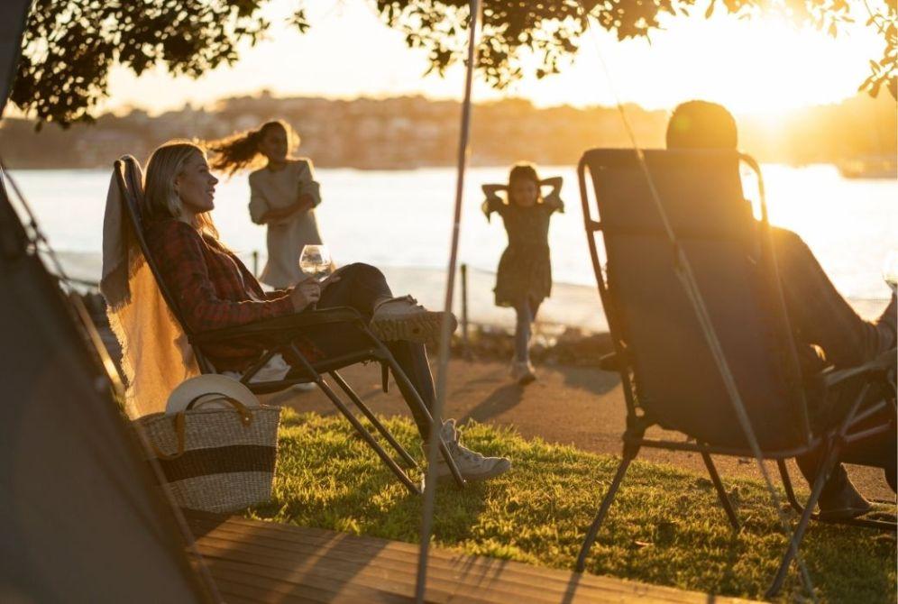 Waterfront camping at Cockatoo Island