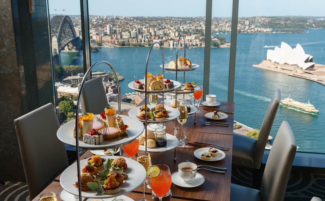 High Tea on level 36, Shangri-La Hotel, Sydney