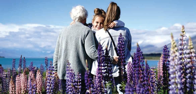 Three generations travelling through New Zealand