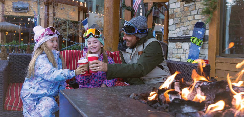 Mammoth Village, family, snow