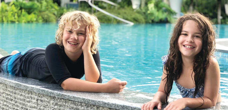 Sentosa, pool, fun