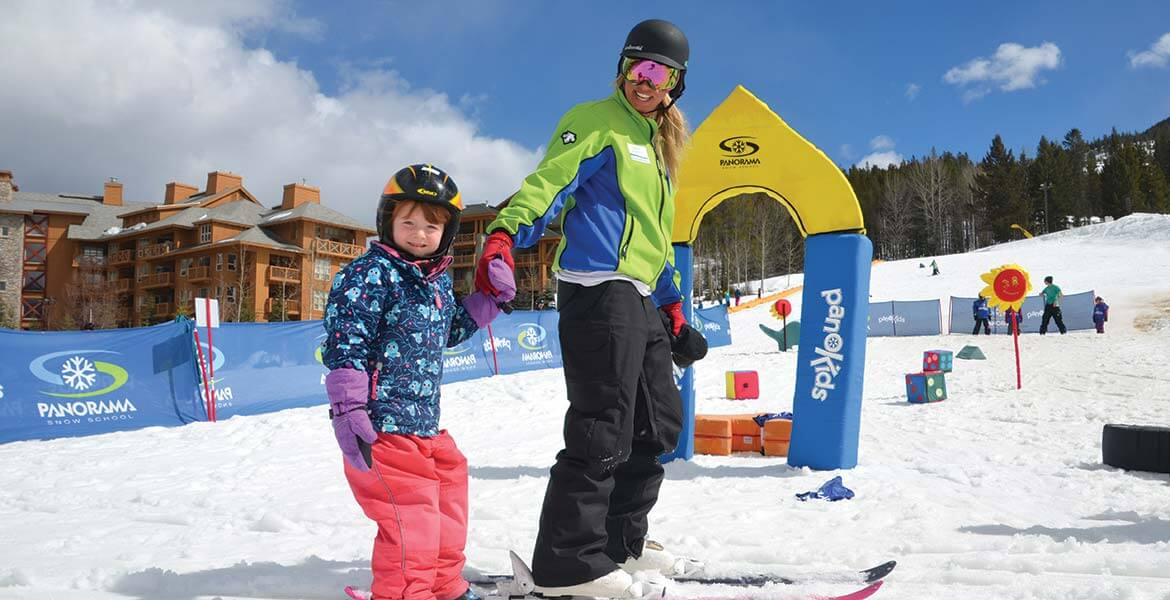 Skiing lessons at Panorama Mountain Resort
