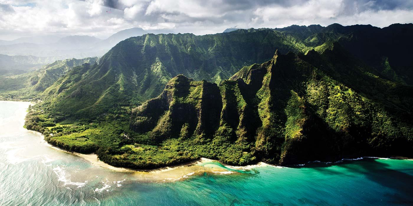 Nā Pali Coast, Kauai Island, Hawaii.