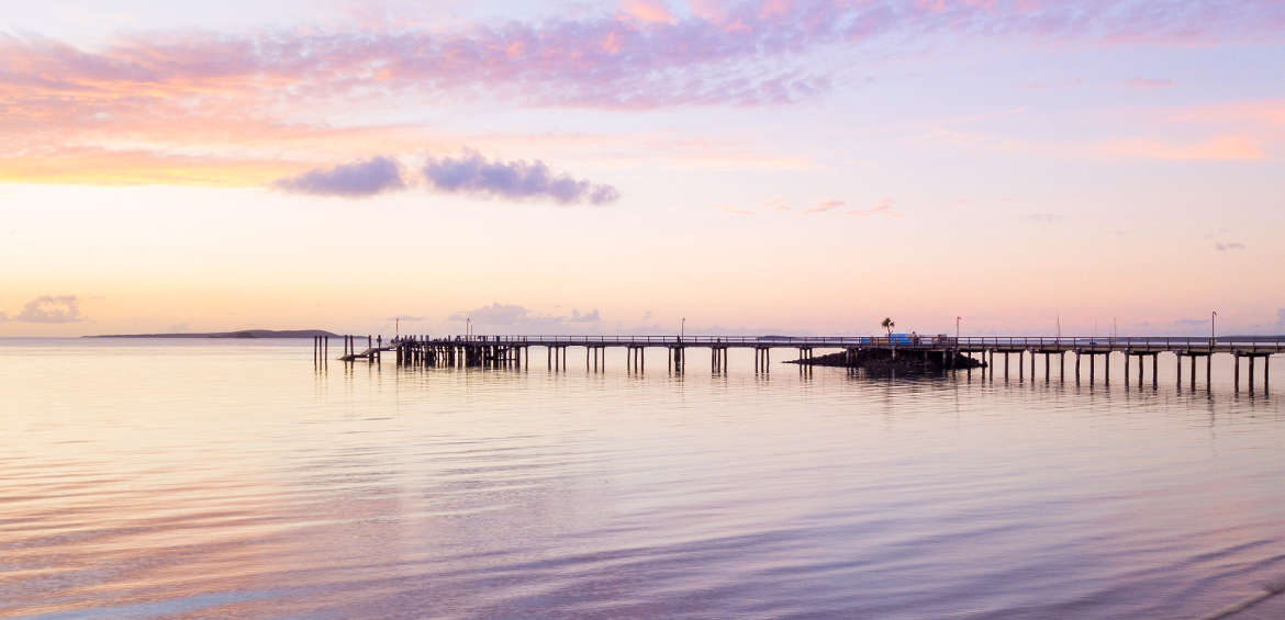 Kingfisher Bay Resort, Fraser Island, Wharf, Sunset