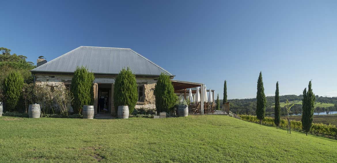 The scenic grounds of Cupitt's Winery, Ulladulla in the Shoalhaven region