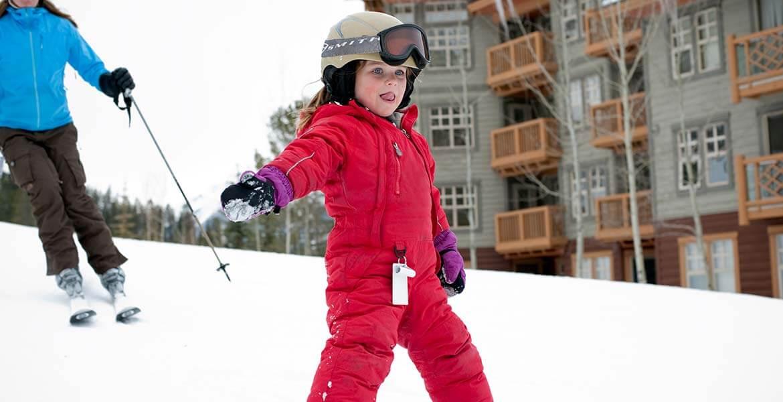 Kid skiing in Panorama, Canada