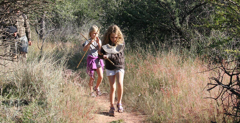 Kids walking in Africa