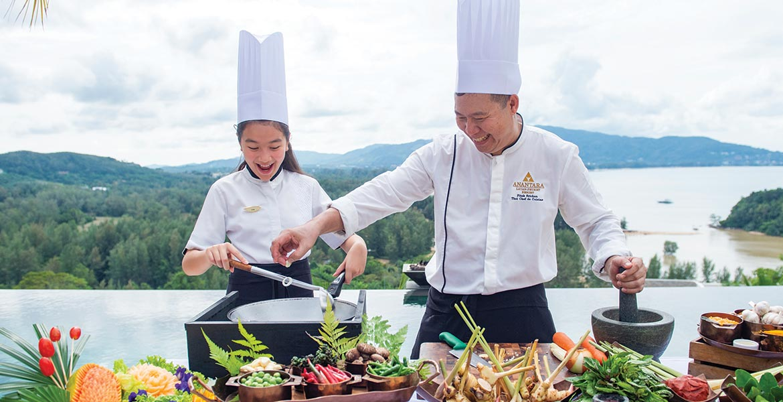 Learning how to cook at Anantara Layan Phuket Resort
