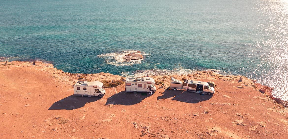 RV's by the water