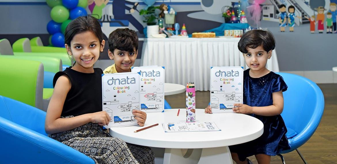 The first three visitors of Dubai Airport's new lounge