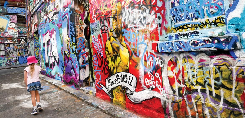 Street art in Hosier Lane