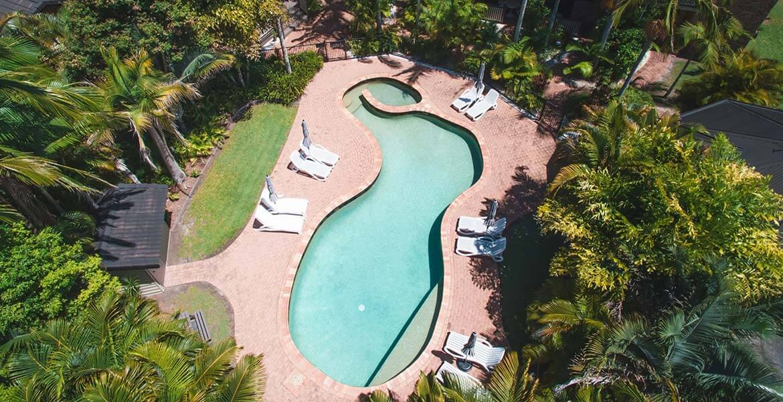 Aerial view of Byron Sunseeker Motel