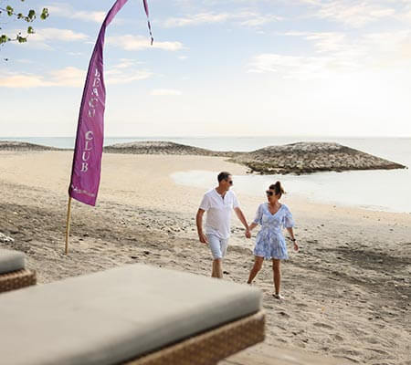 Couple on the beach at Bali Dynasty Resort