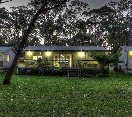 Deluxe Bushland Spa Suite at BIG4 Koala Shores Holiday Park