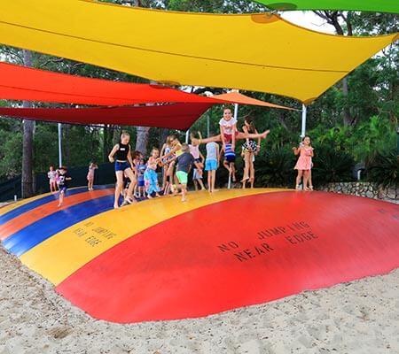 Jumping pillow at BIG4 Koala Shores Holiday Park