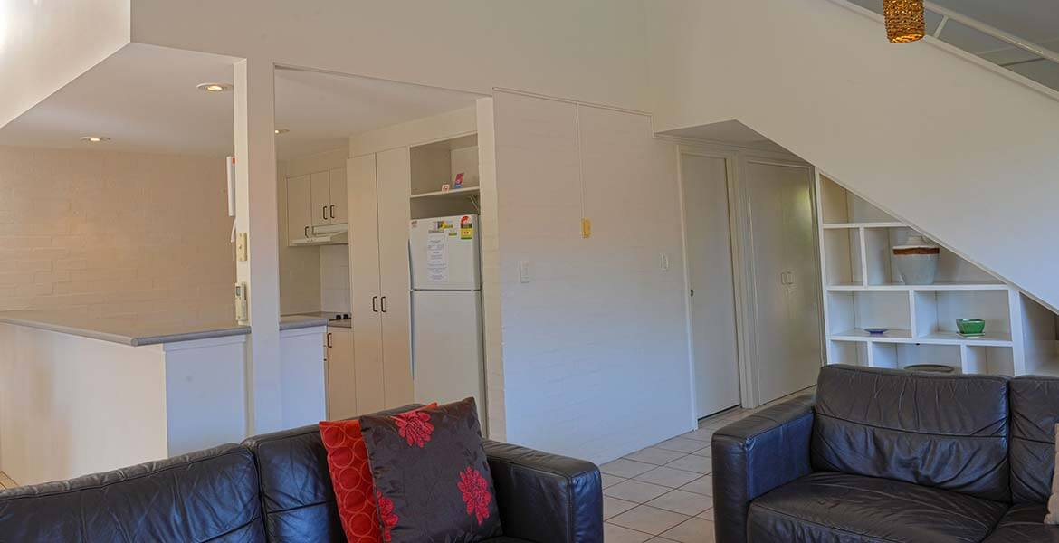 Lounge room at Mariner Bay Apartments, Byron Bay