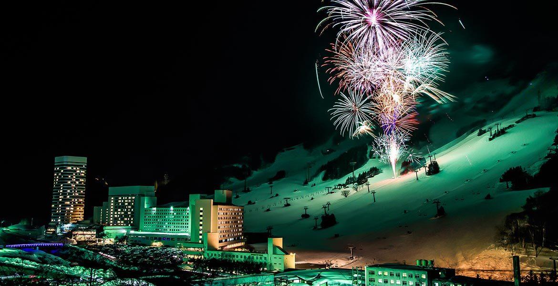 Naeba Ski Resort fireworks