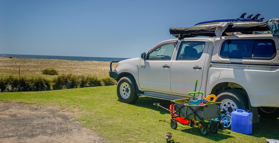 Powered beachfront sites at Merry Beach Caravan Park