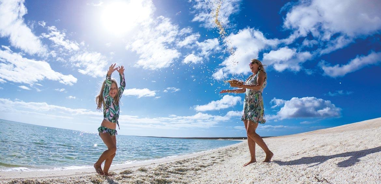 Dancing on Shell Beach in WA