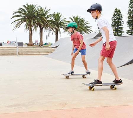 Skateborading at NRMA Port Macquarie Breakwall Holiday Park