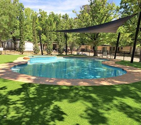 Swimming pool at NRMA Bright Holiday Park