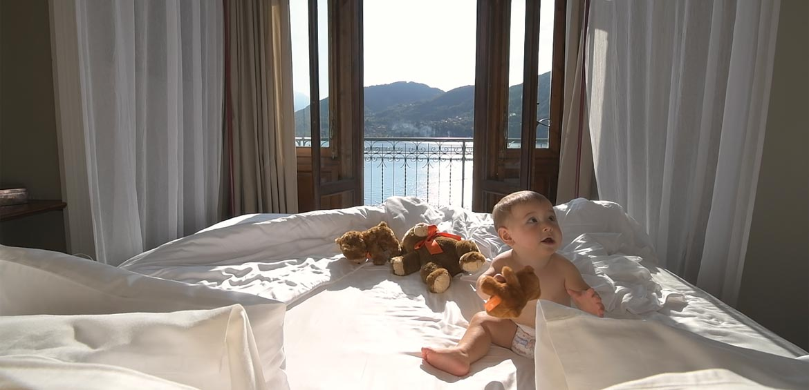 Suite Maria at Grand Hotel Tremezzo overlooks Lake Como
