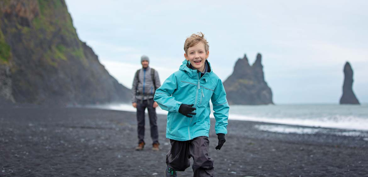 Exploring the black beaches of Reynisfjara