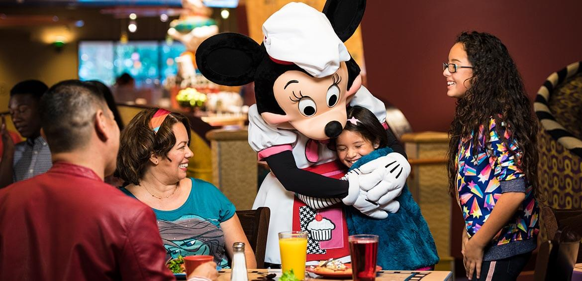 Dinner is served at Disneyland Hotel Anaheim