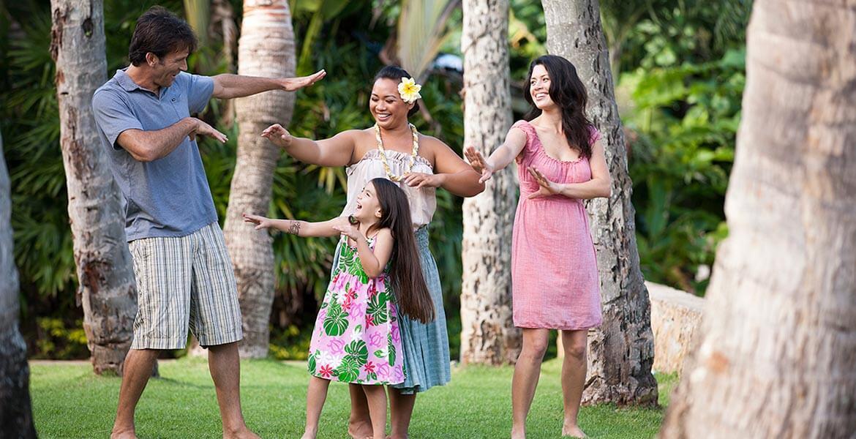 Family hula lessons at Polynesian Cultural Center