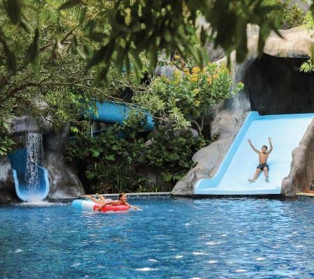 Kids in the pool at Padma Resort Legian