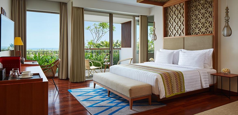 Ocean View Suite Bedroom at INAYA Putri Bali