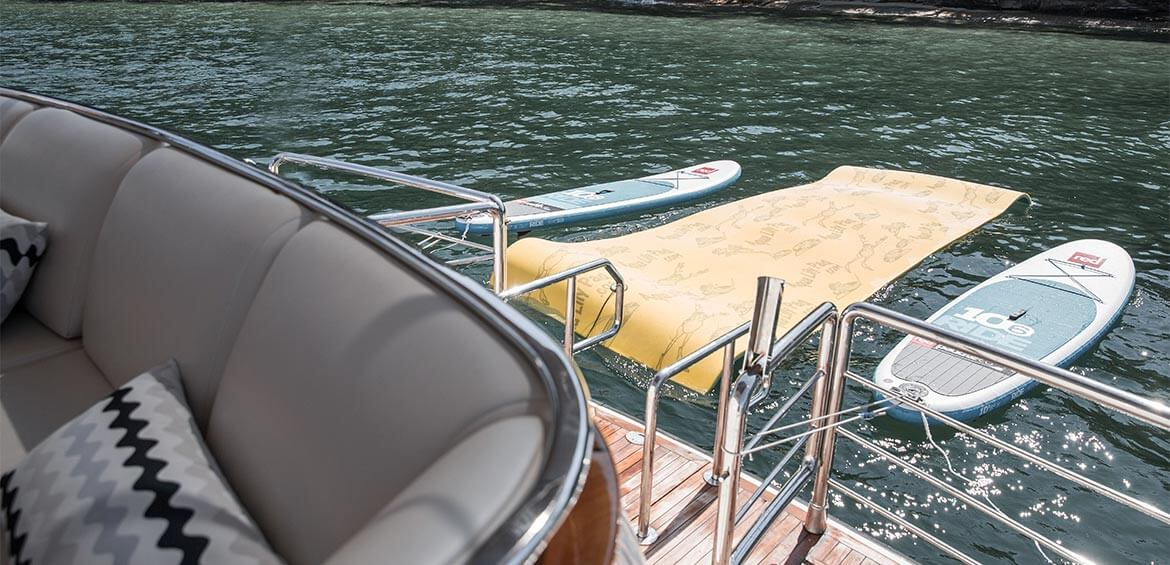 SUP hire available on board Enigma Charters