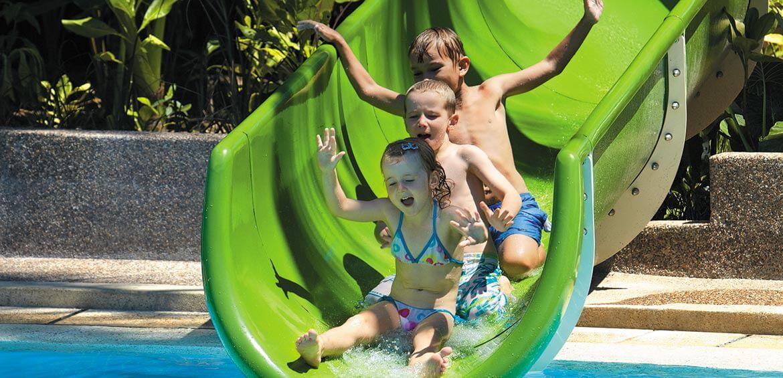 Slide at Shangri-La's Rasa Ria Resort