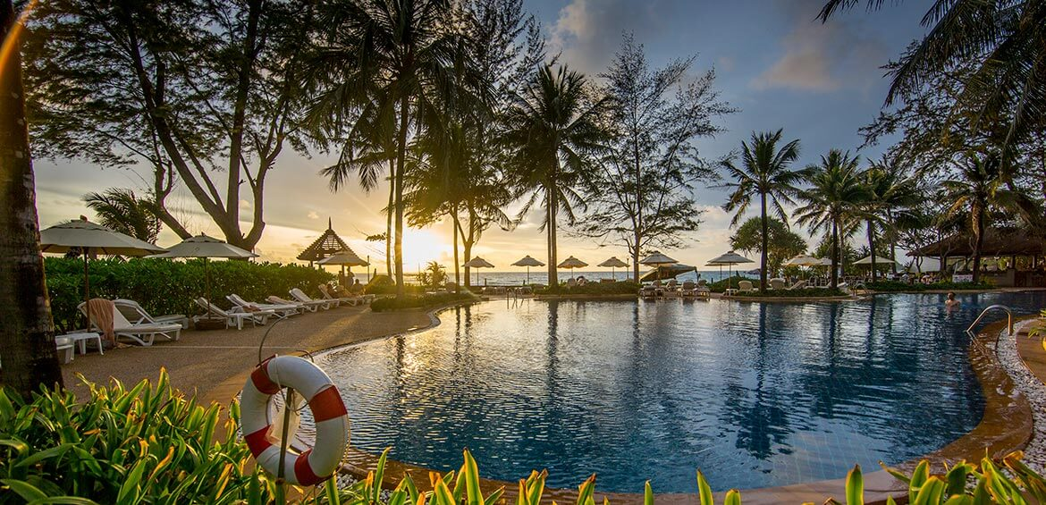 Sunsets at Katathani Phuket Beach Resort