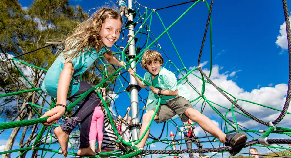 Little ones are all smiles at Urunga Holiday Park