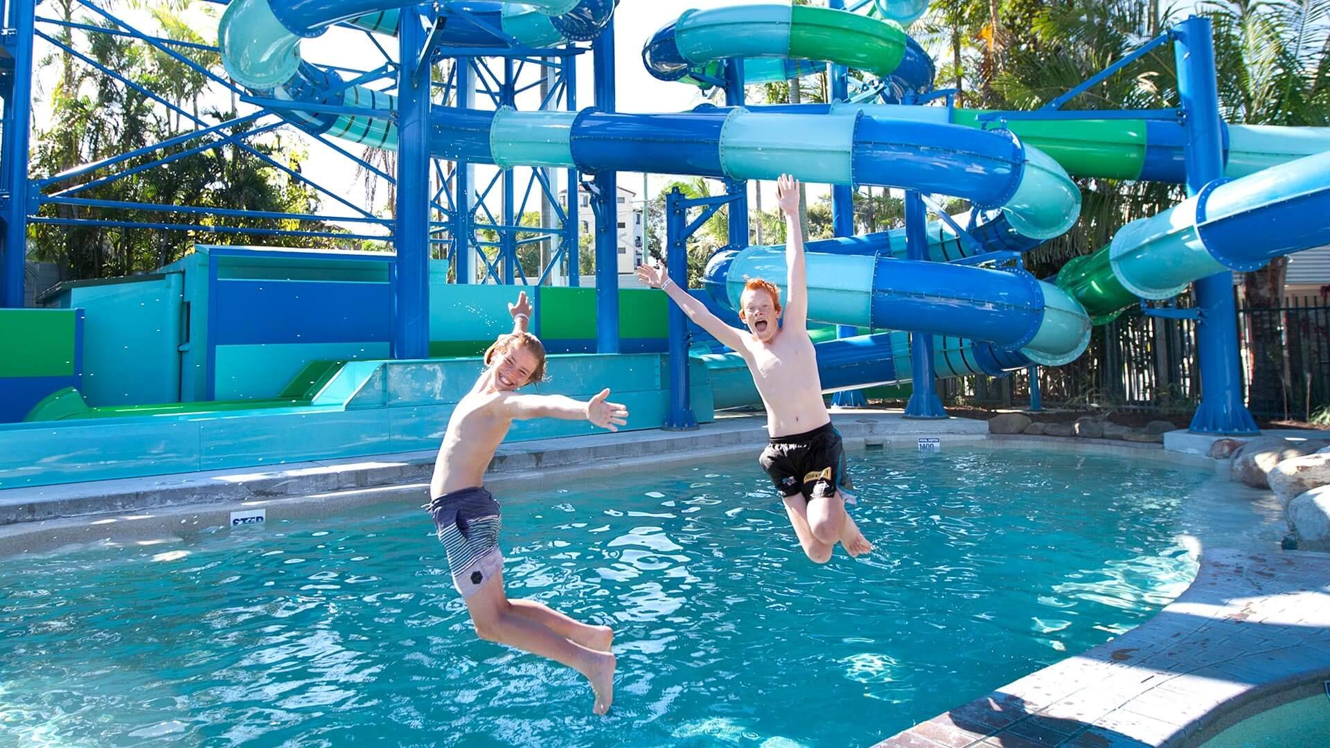 Water slide at North Star Holiday Resort