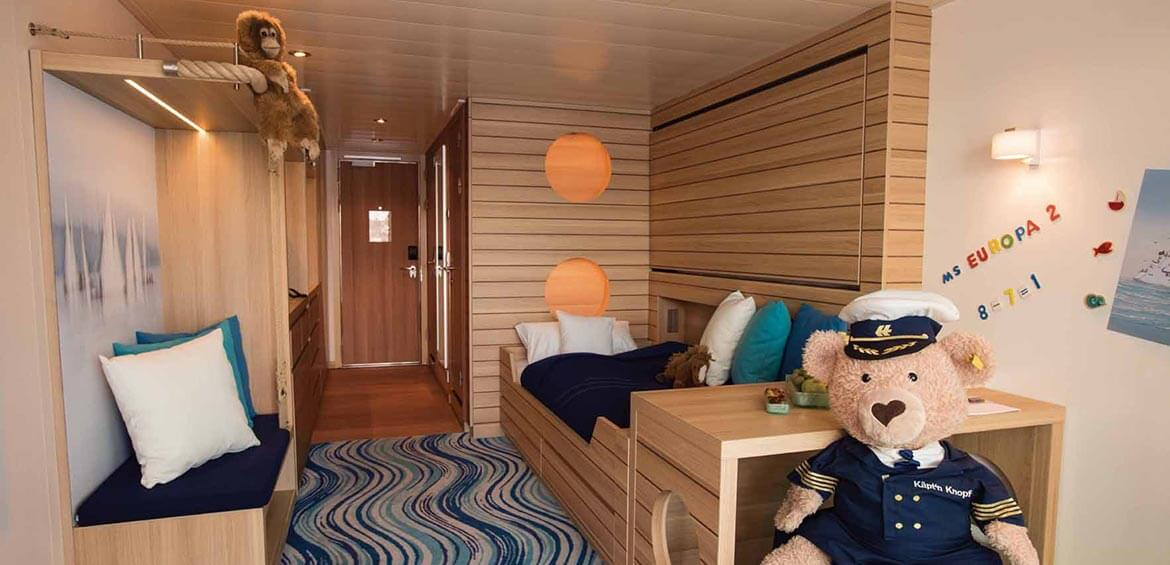 MS EUROPA 2 Family Apartment kids area, Hapag-Lloyd Cruises