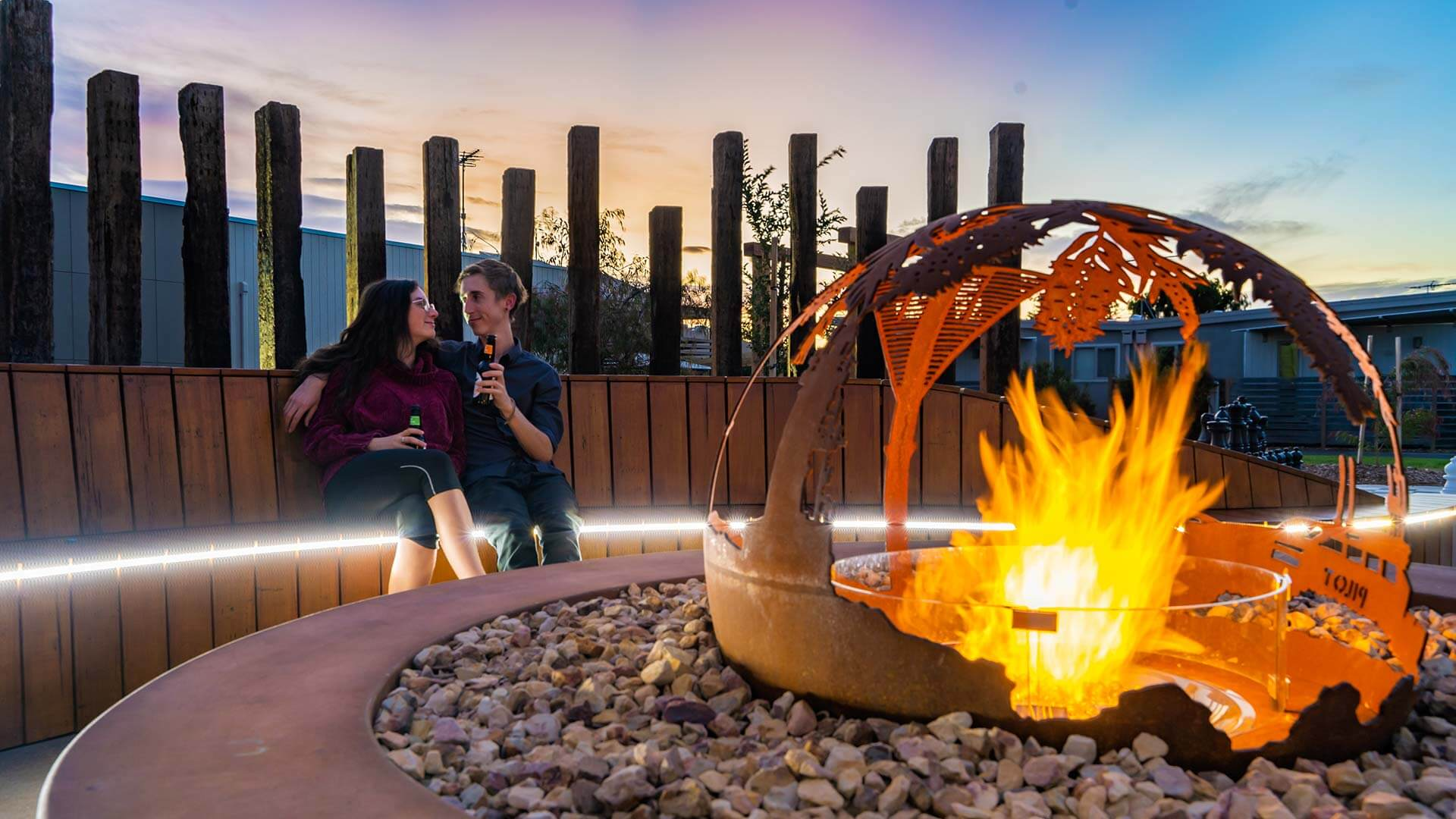 Firepit at BIG4 Beacon Resort