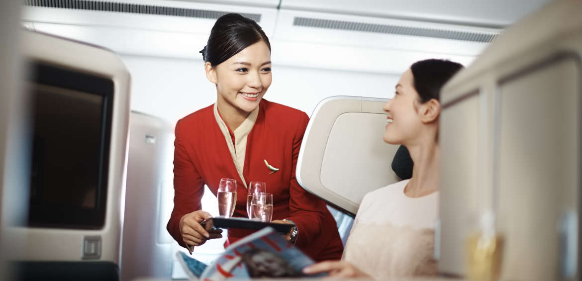 Great service aboard Cathay Pacific ©Cathay Pacific