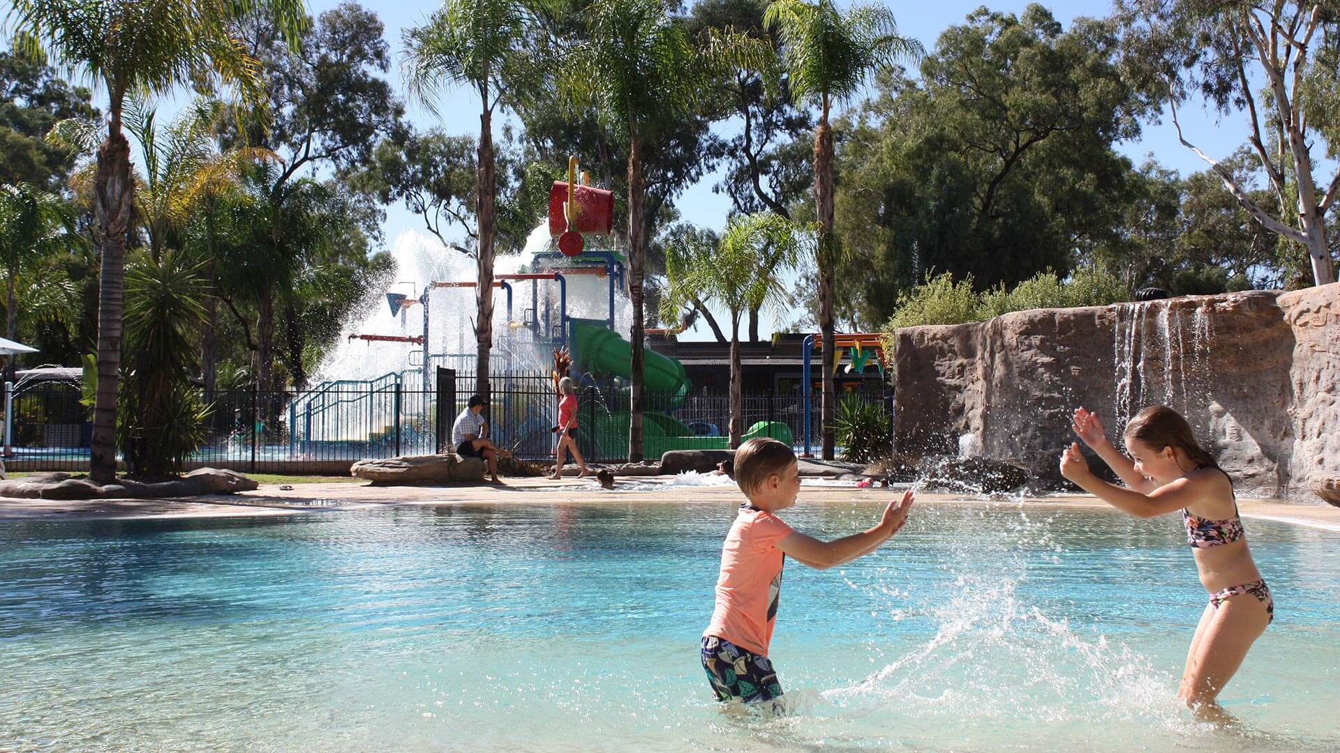 Kids playing in the pool at BIG4 Renmark Riverfront Holiday Park